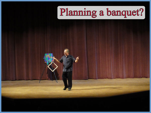 Planning a Banquet Stand-up comedy magic great way to end a sales meeting, corporate retreat, or large dinner party with a dinner theater comedy club performer.